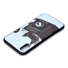 iPhone XR Case Black Cat Painted Soft TPU Protective Back Shell Cover | Protective Apple iPhone XR Covers | Protective Apple iPhone XR Cases | iCoverLover