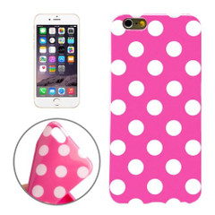 Magenta and White Polka Dot iPhone 6 Plus & 6S Plus Case | Cool iPhone Cases | iPhone Covers | iCoverLover