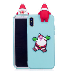 iPhone XR Case Baby Blue 3D Santa Claus Pattern Protective Back Cover with Anti-Slip, Anti-Scratch, and Impact-Resistant | Protective Apple iPhone XR Cases | Protective Apple iPhone XR Covers | iCoverLover