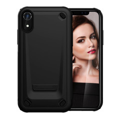 iPhone XR Case Black Slim TPU and PC Double Layer Shockproof Protective Cover with Enhanced Grip and Anti-Scratch| Armor Apple iPhone XR Cases | Armor Apple iPhone XR Covers | iCoverLover