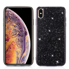 iPhone XR Case Black Glitter Powder TPU Cover With Shockproof Material, Anti-Scratch Exterior, Flexible Body   Protective Apple iPhone XR Cases   Protective Apple iPhone XR Covers   iCoverLover