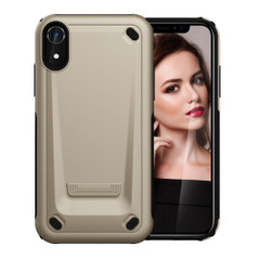 iPhone XR Gold Case Slim TPU and PC Double Layer Shockproof Protective Cover with Enhanced Grip and Anti-Scratch | Armor Apple iPhone XR Cases | Armor Apple iPhone XR Covers | iCoverLover