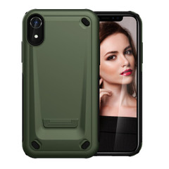 iPhone XR Case Army Green Slim TPU and PC Double Layer Shockproof Protective Cover with Enhanced Grip and Anti-Scratch | Armor Apple iPhone XR Cases | Armor Apple iPhone XR Covers | iCoverLover