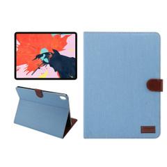 iPad Pro 11 Inch (2018) Case Blue Denim PU Leather Horizontal Flip Folio Cover With Auto Sleep/Wake Function   Leather iPad Pro 11 Inch (2018) Cases   iPad Pro 11 Inch Covers   iCoverLover