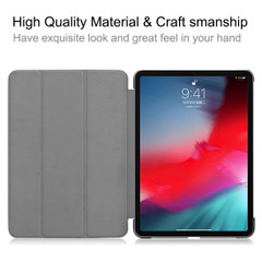 iPad Pro 11 Inch 2018 Case Galaxy Pattern PU Leather Folio Cover With Three Fold Holder And Wake/Sleep Function | Leather iPad Pro 11 Inch Cases | iPad Pro 11 Inch Covers | iCoverLover