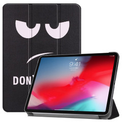 iPad Pro 11 Inch 2018 Case Big Eyes Pattern PU Leather Folio Cover With Three Fold Holder And Wake/Sleep Function   Leather iPad Pro 11 Inch Cases   iPad Pro 11 Inch Covers   iCoverLover