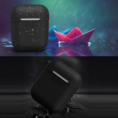 For Apple Airpods 1 & 2 Storage Bag Brown Silicone Protective Box with Impact-resistant, Scratch-proof and Antiloss   AirPods Accessories   iCoverLover