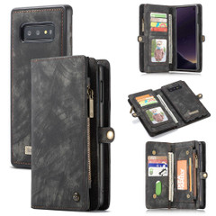 Samsung Galaxy S10e Case Black PU Leather Detachable Cover, 11 Card Slots, 2 Cash Pockets, 2 Photo Frames, Kickstand | Leather Samsung Galaxy S10e Covers | Leather Samsung Galaxy S10e Cases | iCoverLover