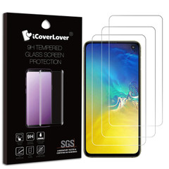 iCoverLover [3-pack] Samsung Galaxy S10e Tempered Glass Screen Protector | Protective Samsung Galaxy S10e Screen Protectors | Strong Samsung Galaxy S10e Glass Screen Protector | iCoverLover