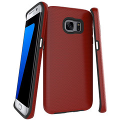 Red Armor Samsung Galaxy S7 EDGE Case | Armor Samsung Galaxy S7 Edge Cases | Armor Samsung Galaxy S7 Edge Covers | iCoverLover