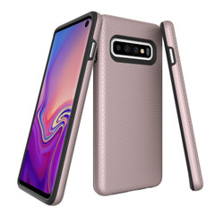 Samsung Galaxy S10 Case Rose Gold Ultra Thin Shockproof PC+TPU Armour Back Cover with Kickstand and Built-in Magnet | Armor Samsung Galaxy S10 Covers | Armor Samsung Galaxy S10 Cases | iCoverLover