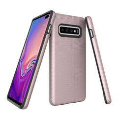 Samsung Galaxy S10 Plus Case Rose Gold Ultra Thin Shockproof PC+TPU Armour Back Cover with Kickstand and Built-in Magnet | Armor Samsung Galaxy S10 Plus Covers | Armor Samsung Galaxy S10 Plus Cases | iCoverLover
