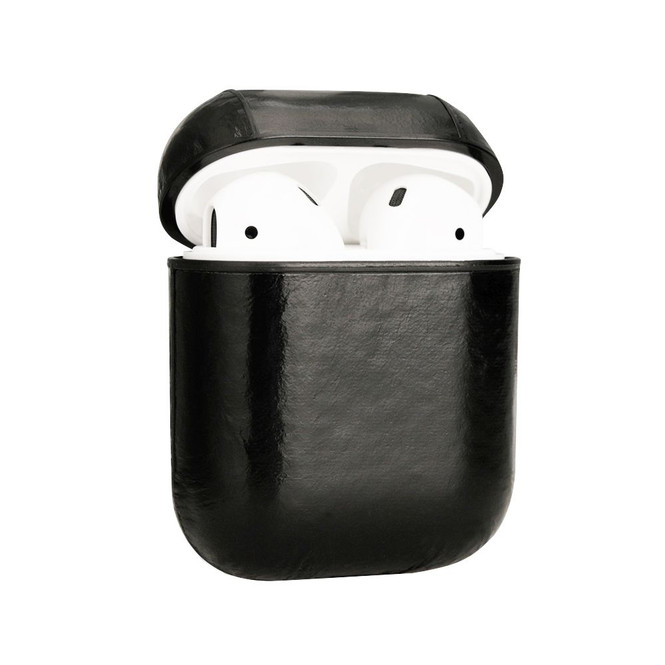 Apple AirPods 1/2 Case Black Genuine Leather Protective Wireless Earphones Box with Shockproof, Anti Scratch, Strap   Free Delivery across Australia