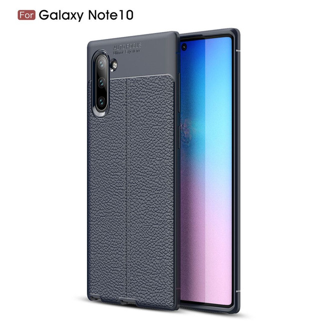 Samsung Galaxy Note 10 Case Navy Blue Lychee Texture TPU shock-proof Protective Back Shell, Anti-Scratch, Anti-Slip  Free Delivery in Australia