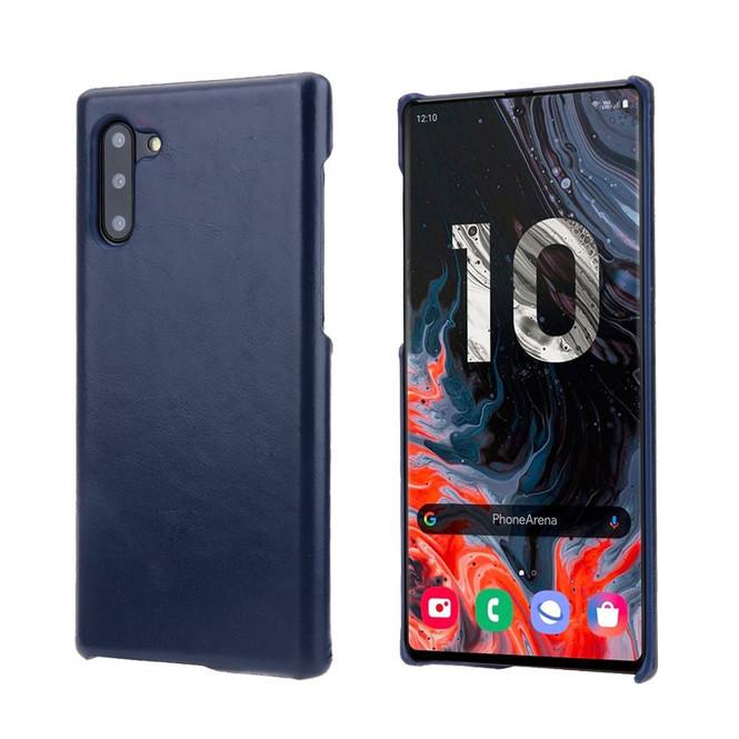 Blue Elegant Genuine Leather Samsung Galaxy Note 10 Case | Samsung Galaxy Note 10 Genuine Leather Covers | Samsung Galaxy Note 10 Leather Cases | iCoverLover