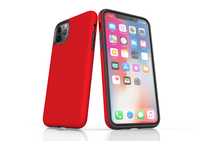 iPhone 11 Pro Max, 11 Pro, 11, XS Max, XS/X, XR, 8/7/6 Plus, SE/5S/5 Tough Case, Red | iCoverLover