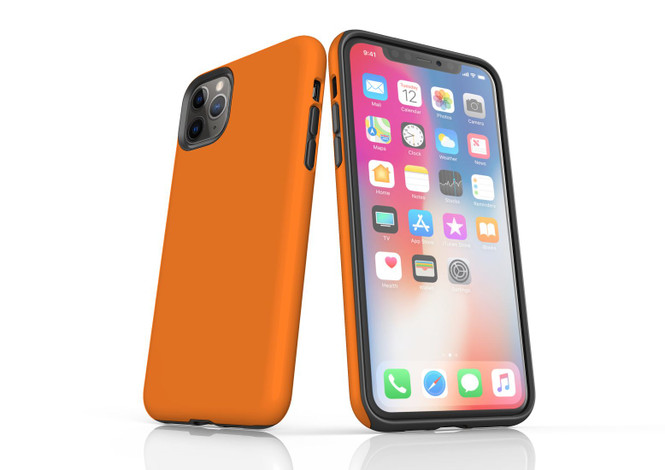 iPhone 11 Pro Max, 11 Pro, 11, XS Max, XS/X, XR, 8/7/6 Plus, SE/5S/5 Tough Case, Orange   iCoverLover