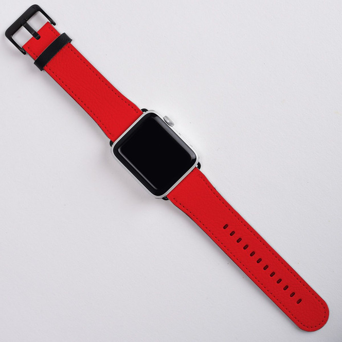 Apple Watch Band (44,42,40,38mm) Series 1, 2, 3 & 4 Vegan Leather Strap, iWatch Red