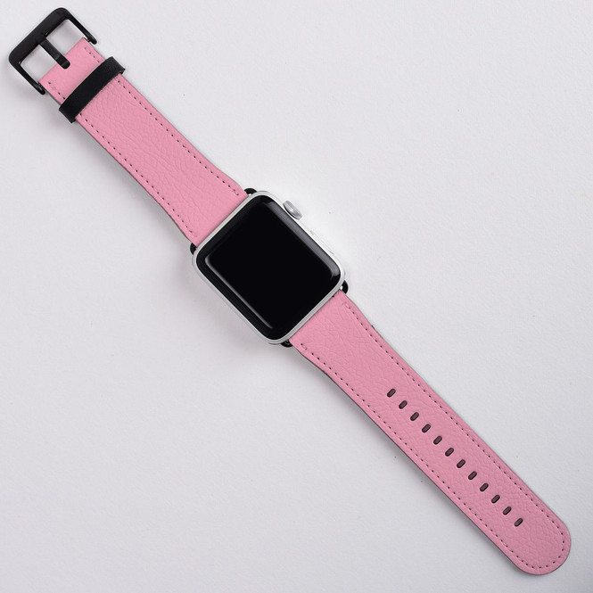 Apple Watch Band (44,42,40,38mm) Series 1, 2, 3 & 4 Vegan Leather Strap, iWatch Pink