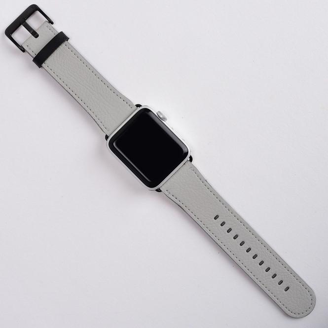 Apple Watch Band (44,42,40,38mm) Series 1, 2, 3 & 4 Vegan Leather Strap, iWatch Grey