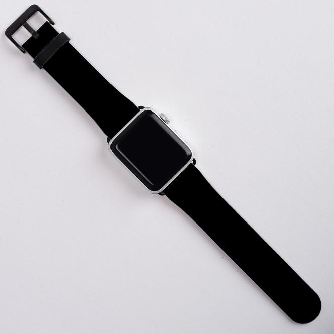 Apple Watch Band (44,42,40,38mm) Series 1, 2, 3 & 4 Vegan Leather Strap, iWatch Black