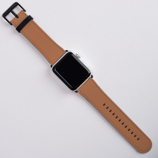 Apple Watch Band (44,42,40,38mm) Series 1, 2, 3 & 4 Vegan Leather Strap, iWatch Brown