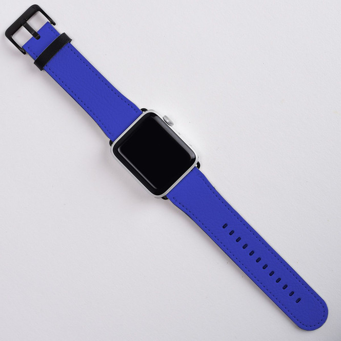 Apple Watch Band (44,42,40,38mm) Series 1, 2, 3 & 4 Vegan Leather Strap, iWatch Blue