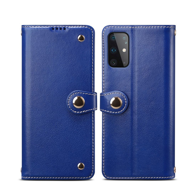 Samsung Galaxy S20/20+ Plus/20 Ultra 4G 5G Case, Genuine Leather Wallet in Blue | iCoverLover Australia