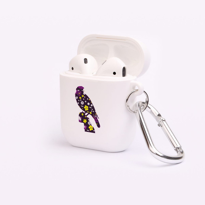 AirPods 1 & 2 Case, Protective TPU Box with Hook, Floral Jay | iCoverLover Australia