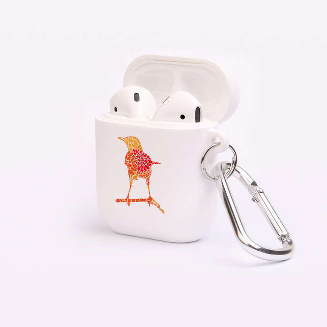 AirPods 1 & 2 Case, Protective TPU Box with Hook, Floral Raven | iCoverLover Australia