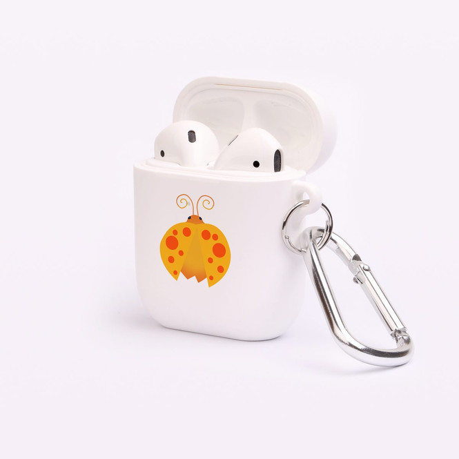 AirPods 1 & 2 Case, Protective TPU Box with Hook, Ladybug in Orange | iCoverLover Australia