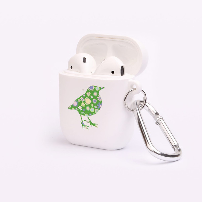 AirPods 1 & 2 Case, Protective TPU Box with Hook, Floral Sparrow | iCoverLover Australia