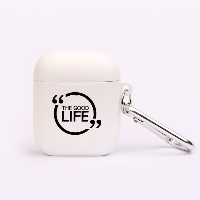 """AirPods 1 & 2 Case, Protective TPU Box with Hook, """"The Good Life"""" 