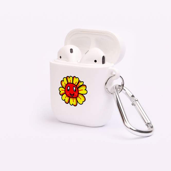 AirPods 1 & 2 Case, Protective TPU Box with Hook, Smiling Flower | iCoverLover Australia