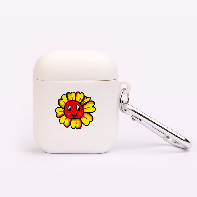AirPods 1 & 2 Case, Protective TPU Box with Hook, Smiling Flower   iCoverLover Australia