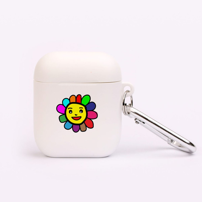AirPods 1 & 2 Case, Protective TPU Box with Hook, Colourful Happy Flower | iCoverLover Australia