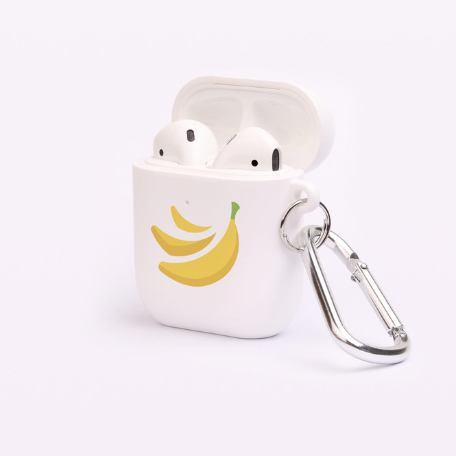 AirPods 1 & 2 Case, Protective TPU Box with Hook, Yellow Bananas | iCoverLover Australia