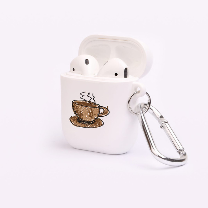 AirPods 1 & 2 Case, Protective TPU Box with Hook, Hot Beverage | iCoverLover Australia