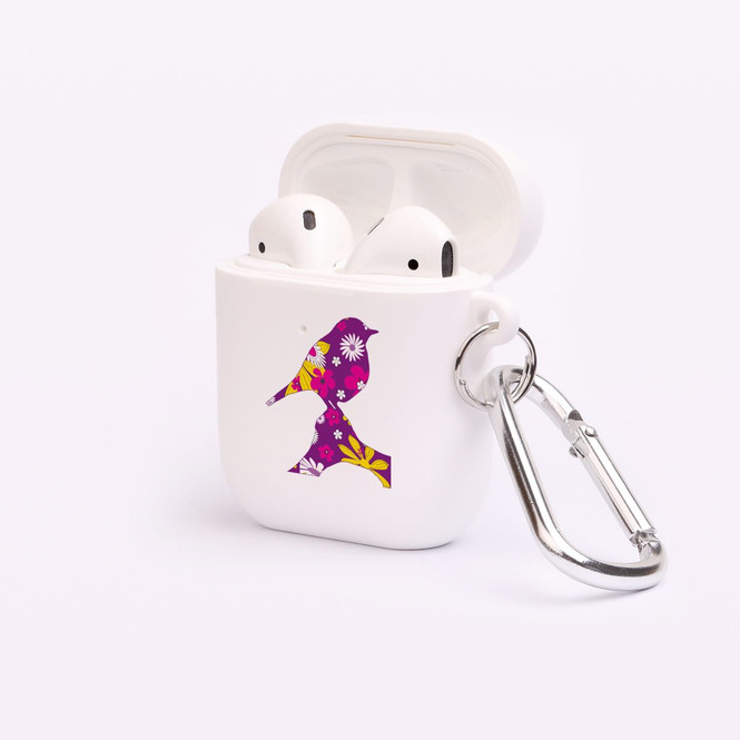 AirPods 1 & 2 Case, Protective TPU Box with Hook, Floral Robin | iCoverLover Australia