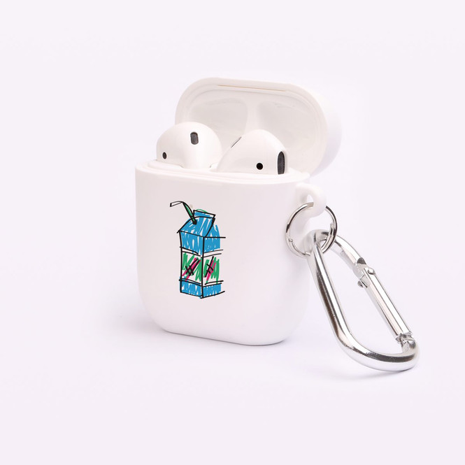 AirPods 1 & 2 Case, Protective TPU Box with Hook, Drawn Juicebox | iCoverLover Australia