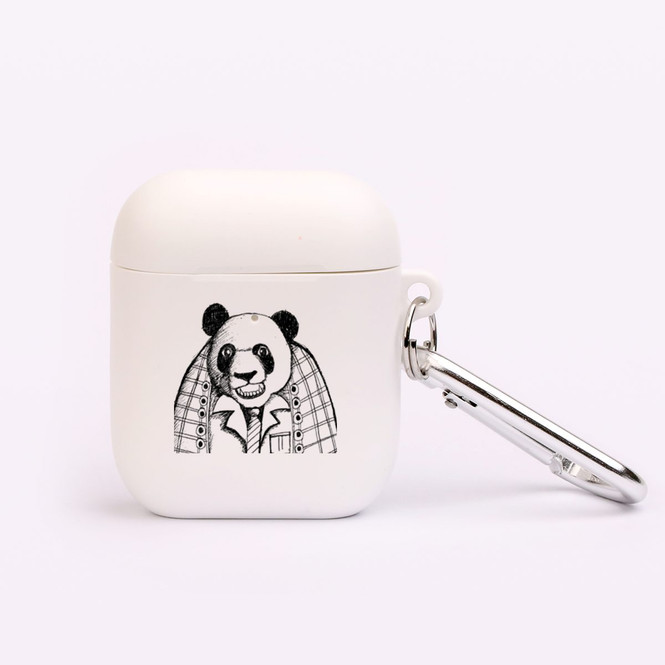 AirPods 1 & 2 Case, Protective TPU Box with Hook, Panda In a Suit   iCoverLover Australia