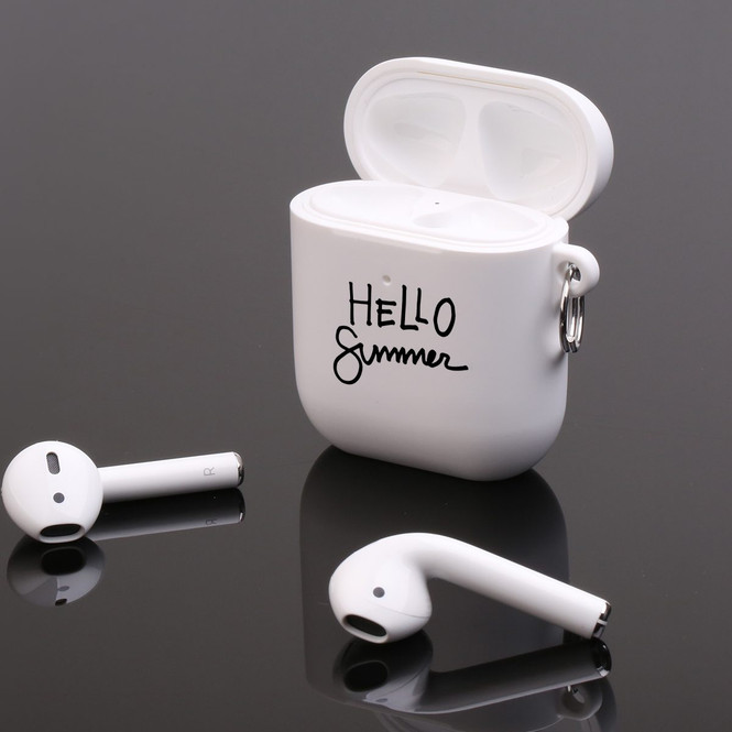 AirPods 1 & 2 Case, Protective TPU Box with Hook, Hello Summer | iCoverLover Australia
