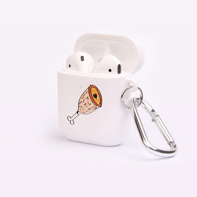 AirPods 1 & 2 Case, Protective TPU Box with Hook, Drawn Ham | iCoverLover Australia