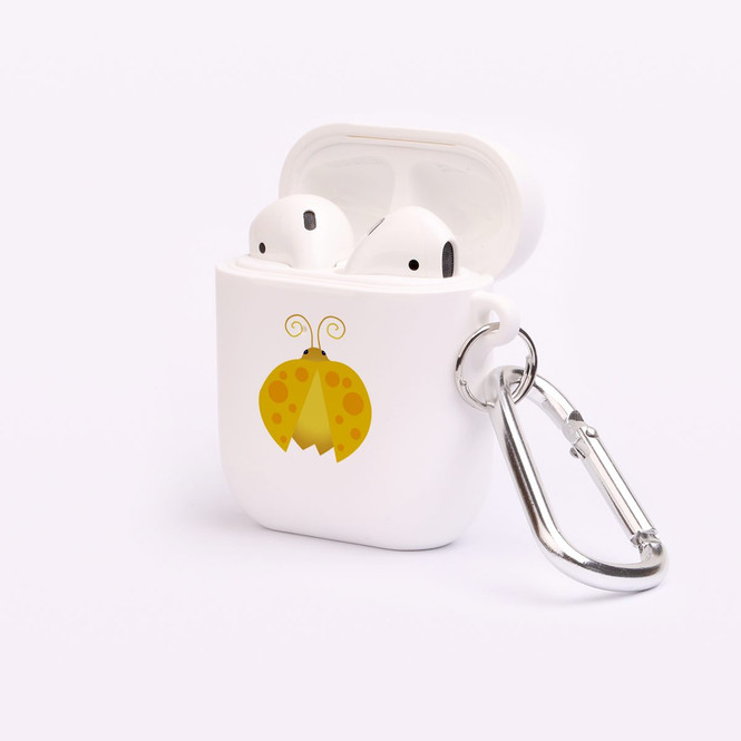 AirPods 1 & 2 Case, Protective TPU Box with Hook, Ladybug in Yellow | iCoverLover Australia