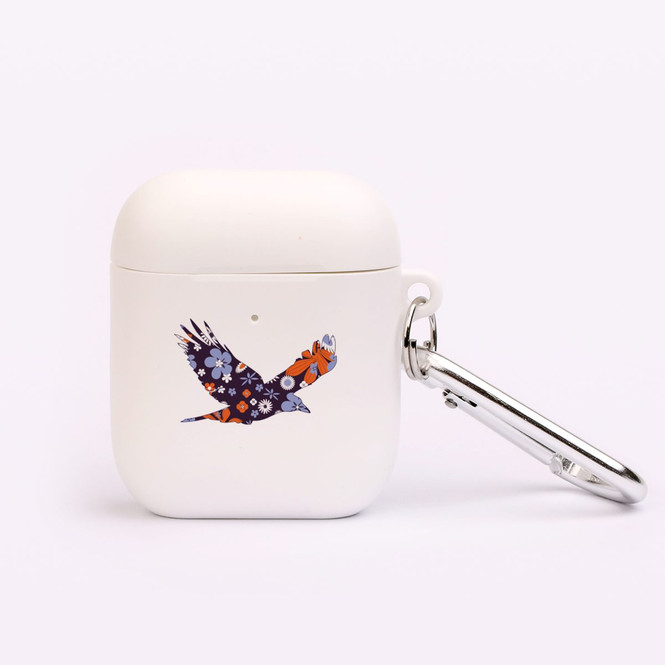 AirPods 1 & 2 Case, Protective TPU Box with Hook, Floral Eagle | iCoverLover Australia