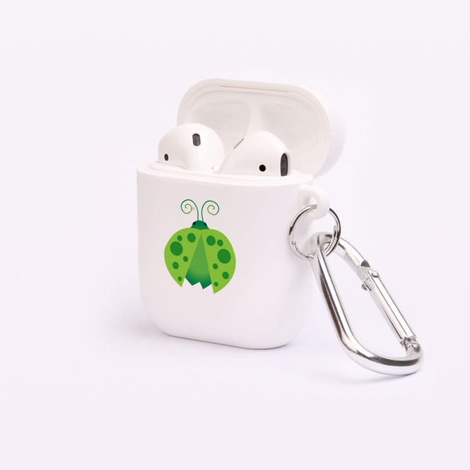 AirPods 1 & 2 Case, Protective TPU Box with Hook, Ladybug in Green | iCoverLover Australia
