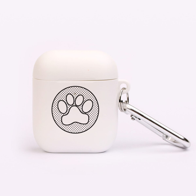 AirPods 1 & 2 Case, Protective TPU Box with Hook, Paw Print | iCoverLover Australia
