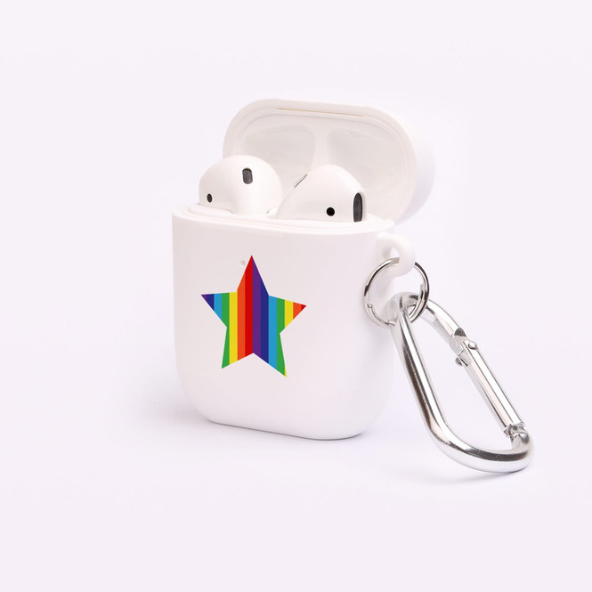 AirPods 1 & 2 Case, Protective TPU Box with Hook, Rainbow Star | iCoverLover Australia