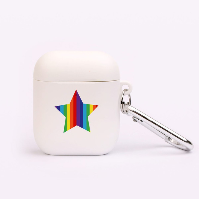 AirPods 1 & 2 Case, Protective TPU Box with Hook, Rainbow Star   iCoverLover Australia