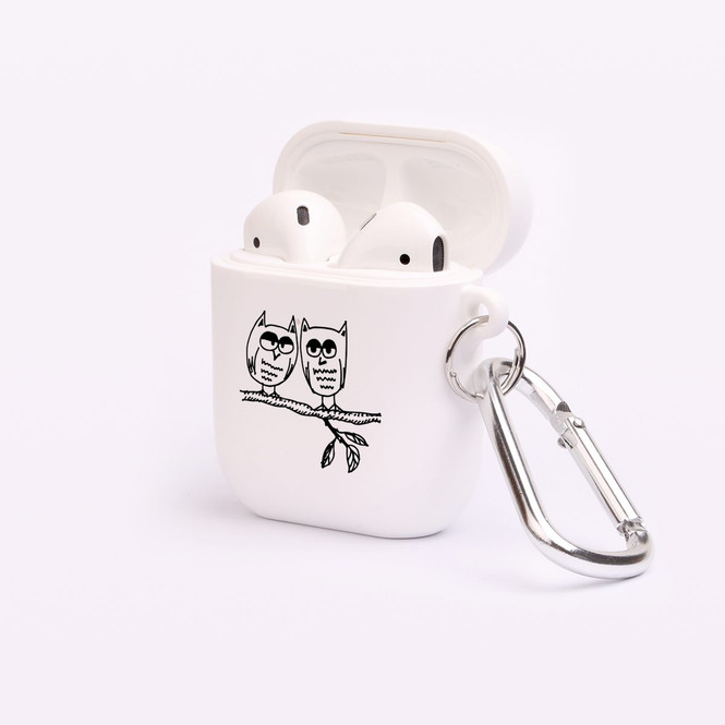 AirPods 1 & 2 Case, Protective TPU Box with Hook, Owl Love | iCoverLover Australia